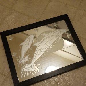 Vintage dolphin mirror